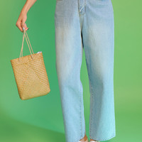Faded Wash High-Rise Jeans
