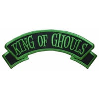 King of Ghouls Name Tag Zombie Ghost Kreepsville Embroidered Iron On Applique Patch