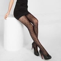Stockings Summer Thin Transparent Jacquard Pantyhose Cored Wire Thin Fashion Hot Stockings Sexy Black Silk Stockings Female 8z-A