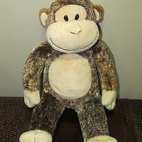 Build a Bear MONKEY  Brown 15 in.All Occasion,SUPER CUTE! age 2 STUFFED ANIMAL