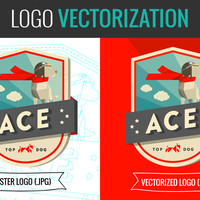 Convert your logo or image to scalable vector format for $40