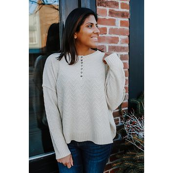 Larger Than Life Sweater - Cream
