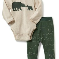 Graphic Bodysuit & Pants Set for Baby | Old Navy