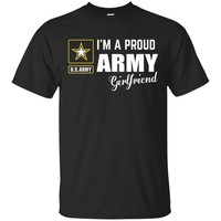 I'm A Proud Army Girlfriend T-shirt_Black