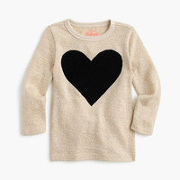 crewcuts Girls Three-Quarter-Sleeve Sparkly T-Shirt With Heart