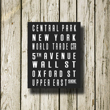 New York Subway Sign Printable Instant Download Print Poster City Name Art Typography Home Decor  Wall Decor S003