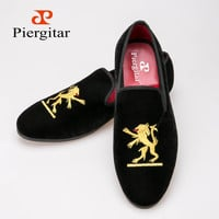 New Styles Fashion Velvet Dress Slippers Lion and Loafers Shoes
