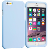 Baby Blue Hard Rubberized Case Cover for Apple iPhone 6 6S (4.7)