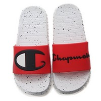 Champion New fashion letter logo spot couple slippers shoes Red