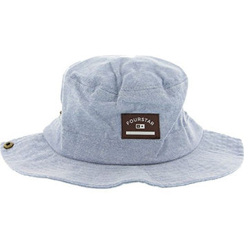 Fourstar Clothing Chambray Boonie Indigo Bucket Hat - Small / Medium