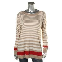 Lord & Taylor Womens Cashmere Blend Striped Pullover Sweater