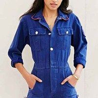 Urban Renewal Recycled French Long-Sleeve Romper- Blue