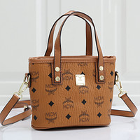MCM Fashion Leather Handbag Crossbody Satchel Shoulder Bag