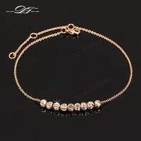 Women's Anklets Simple Metal Beads 18K Rose Gold Plated For Ankle