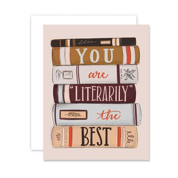 Literarily The Best - A2 Note Card