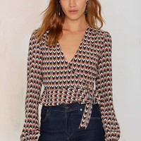 After Party Vintage Lissa Wrap Top