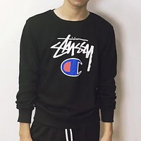Champion X Stussy Fashion Casual Top Sweater Pullover