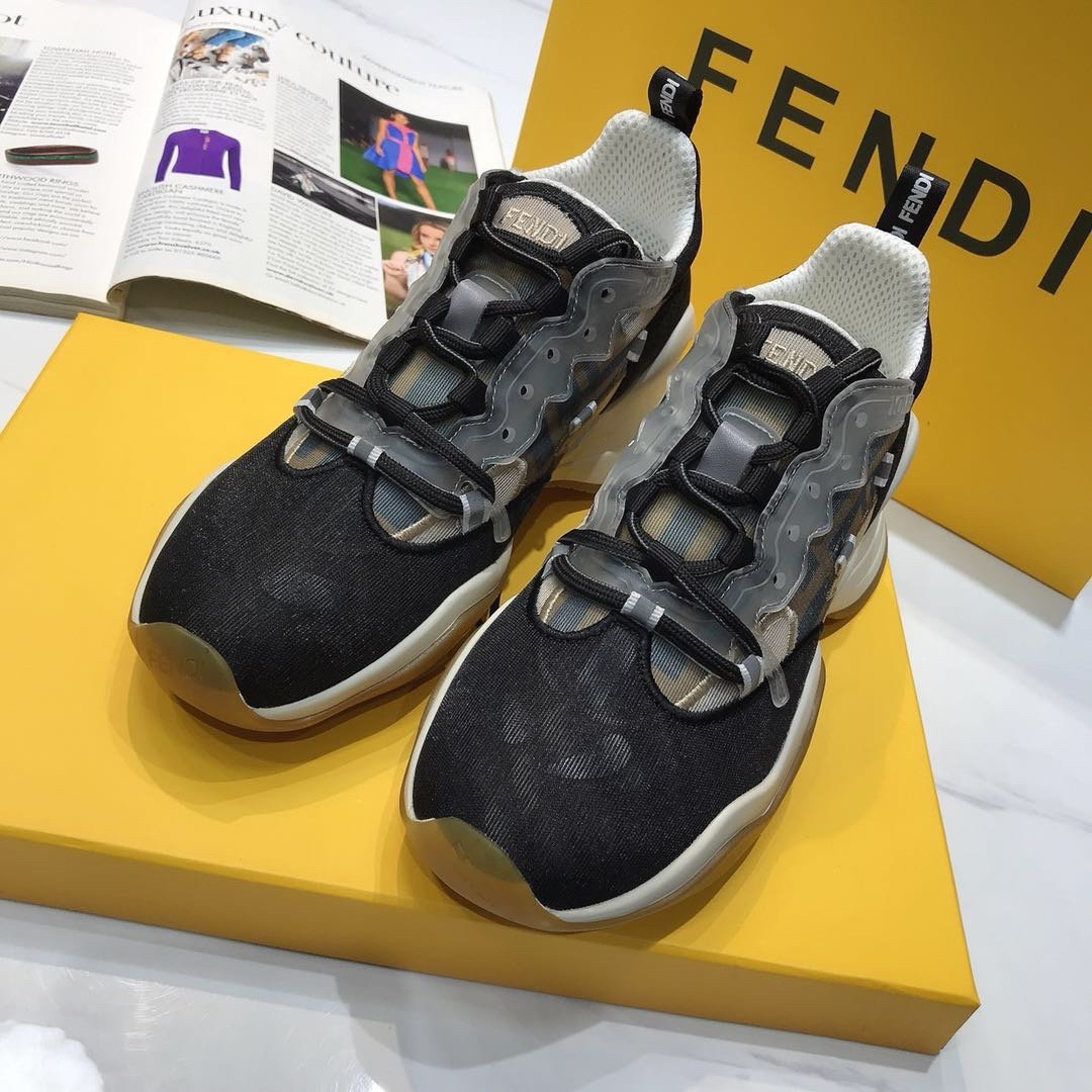 Image of Fendi Women's Leather Fashion Low Top Sneakers Shoes