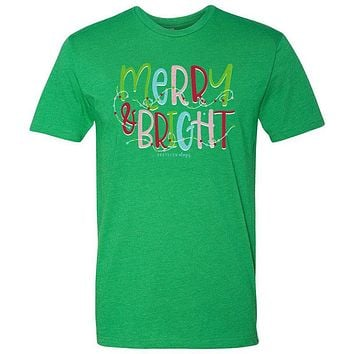 Southernology Statement Merry and Bright Holiday Canvas T-Shirt