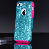 Otterbox iPhone 5c Case Custom Glitter Commuter Paradise/Pink iPhone 5c Otterbox Sparkly Bling Glitter Case