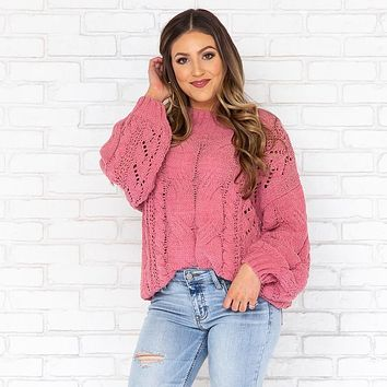 Up & Away Cable Knit Sweater