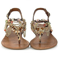 Boho Beach Thongs Sandals = 4776761156