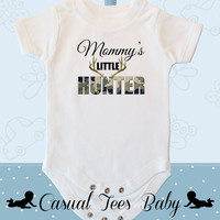Mommy's Little Hunter Baby Bodysuit for the Baby or Toddler Tee