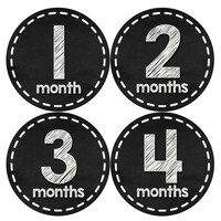 Baby Boy Monthly Milestone Age Stickers Style #433