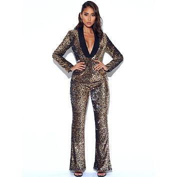Wild Thing Leopard Sequin Trousers