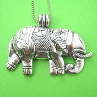 animalcharms | Large Elephant Animal Charm Necklace in Silver |  Affordable Animal Charms and Necklaces