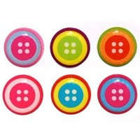 Button Style Home Button Stickers for iPhone 5 4/4s 3GS 3G, iPad 2, iPad Mini, iTouch 6 pieces
