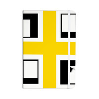 "Oriana Cordero ""Across The White"" Yellow Black Everything Notebook"