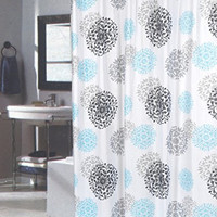 Spring Bloom Extra Long Floral Fabric Shower Curtain Size: 70 inch  x 84 inch