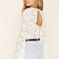 Bell-Sleeve Lace Top