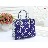 LV Louis Vuitton Fashion New Monogram Print Leather Shopping Leisure Handbag Shoulder Bag Women 3#