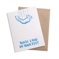 Land On Your Feet Greeting Card