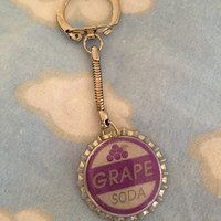 Ellie Badge Inspired Keychain Grape Soda Bottlecap Disney Pixar Up