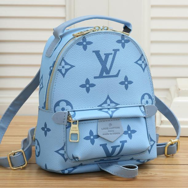 Image of Louis Vuitton LV new letter print ladies shopping backpack school bag Daypack
