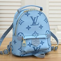 Louis Vuitton LV new letter print ladies shopping backpack school bag Daypack