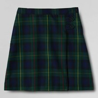 School Uniform Plaid A-line Skirt Below the Knee