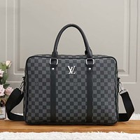 Louis Vuitton LV All-match Atmospheric Presbyopia Plaid Single Shoulder Bag
