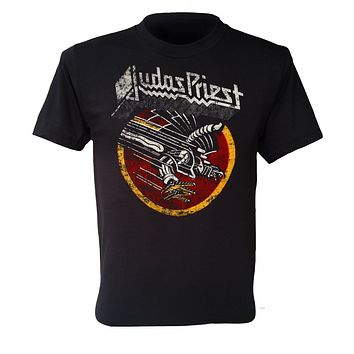 Judas Priest T Shirt Screaming For Vengeance Uk Heavy Metal Band Black S To 3Xl Printed Men T Shirt Short Sleeve Funny|T-Shirts