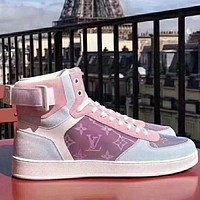 LV Louis Vuitton New flat high-top leather casual shoes high-top sneakers