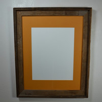 16x20 eco friendly wood picture or poster frame complete with mat