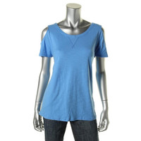 Two by Vince Camuto Womens Cotton Open Shoulder Pullover Top