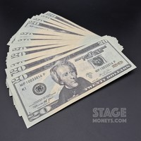 50x $20 Bills - $1,000 - New Style Prop Money
