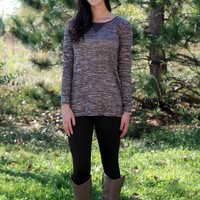 Vent Back Tunic - Heather Brown