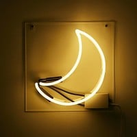 Crescent Moon Neon Sign   Urban Outfitters