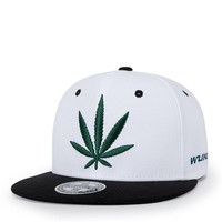 Trendy Winter Jacket Wuke Hemp Leaf Embroidery Sports Outdoors Cap Hip Hop Casquette Fashion Baseball Cap Gorras for Men Women Fitted Snapback Hat AT_92_12