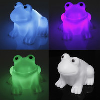 Frog Night Light Auto Color Changing